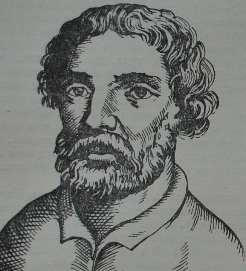 Портрет Степана Разина из английской книги 1672 г.