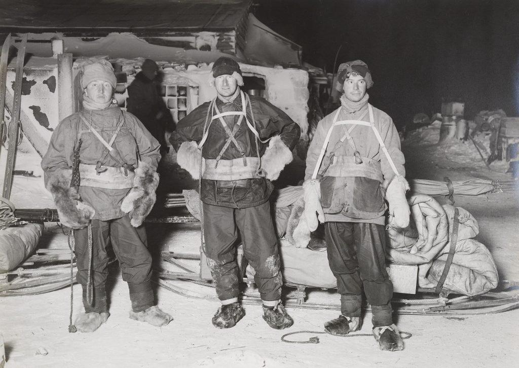 Боуэрс, Уилсон, Гаррард перед выходом на мыс Крозье