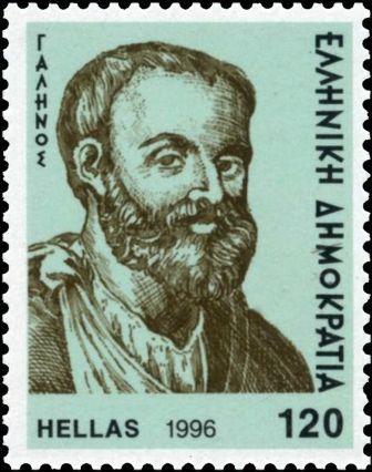 Портрет Галена на почтовой марке