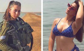 Израильские девушки-солдаты в форме и без