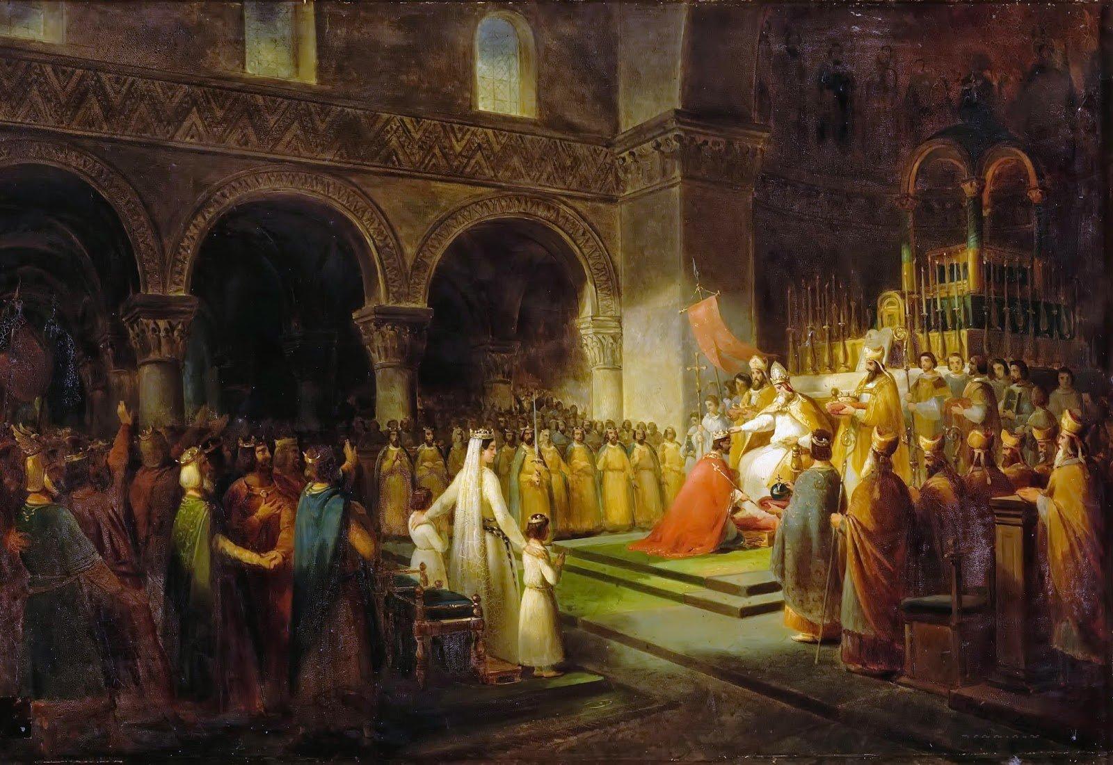 Коронация Пипина Короткого.