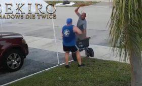 Понедельник начинается с дичи! Мужчина из Флориды напал на соседа с катаной, сражаясь за халявный мусор