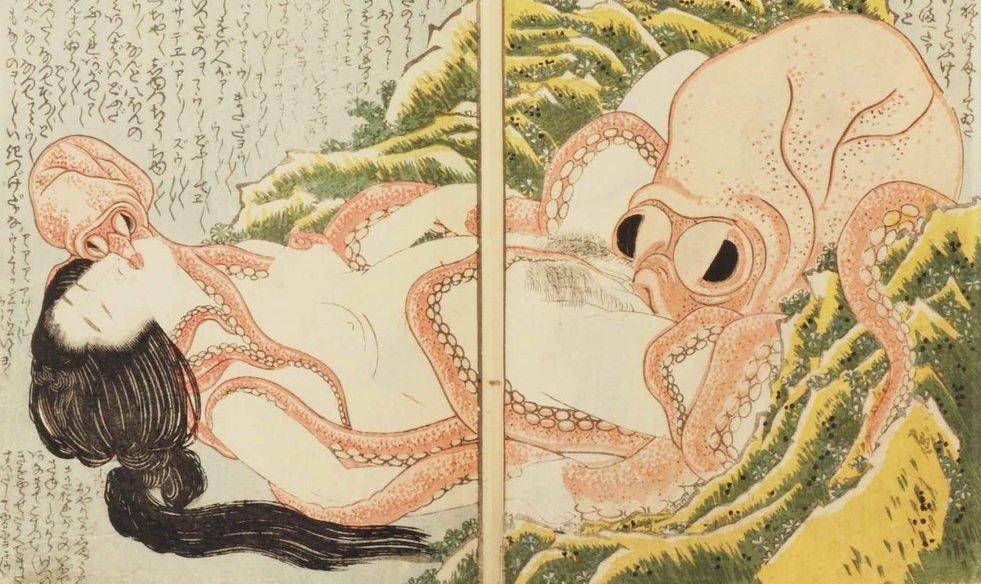 Хокусай сон жены рыбака отвратительные мужики disgustng men