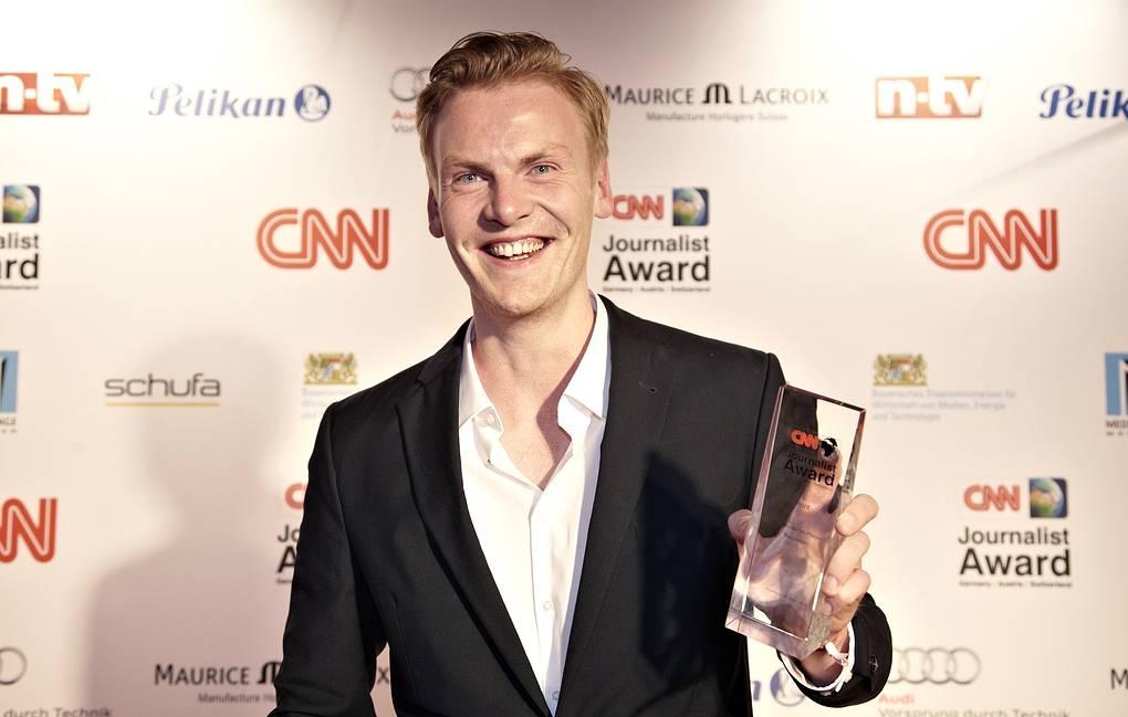 Релоциус с наградой лучшему журналисту Европы по версии CNN. 2014 год