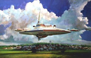 Первый арт «Звездных войн» и самые элегантные звездолеты: иллюстрации Джона Берки