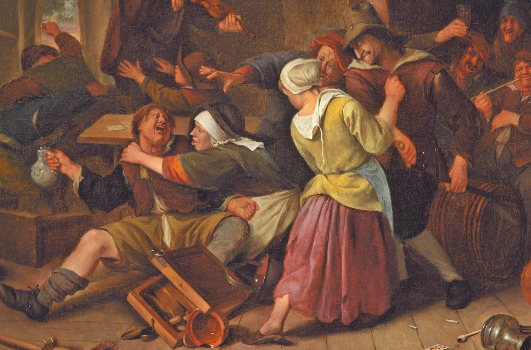Погром на день святой Схоластики студенческий бунт отвратительные мужики disgusting men