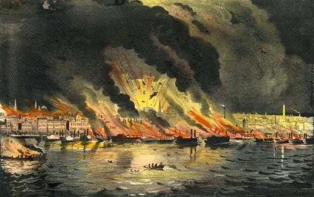 Великий пожар в Сент-Луисе