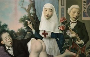Забавная меланхолия корявых лиц: картины Джеффри Чон Вана