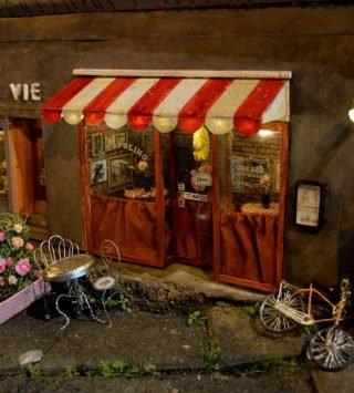 Мини-кафе, галантерея и магазин винила для мышат: уютнейшие диорамы шведского художника AnonyMouse
