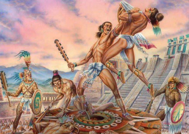 ацтекский гладиатор ацтеки воин Тлаиукол отвратительные мужики