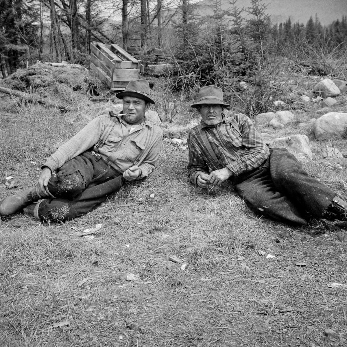 старинные фото работяги лесорубы отвратительные мужики