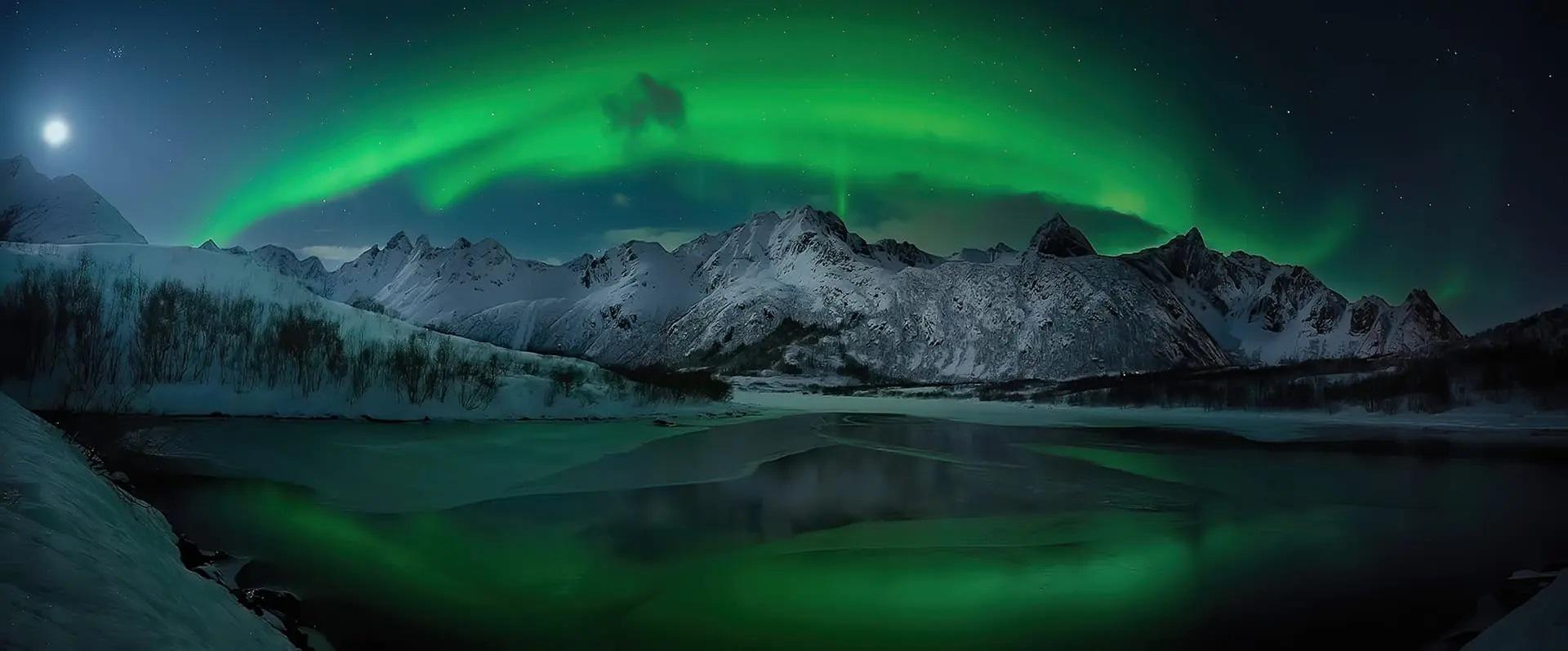 северное сияние полярное сияние 2020