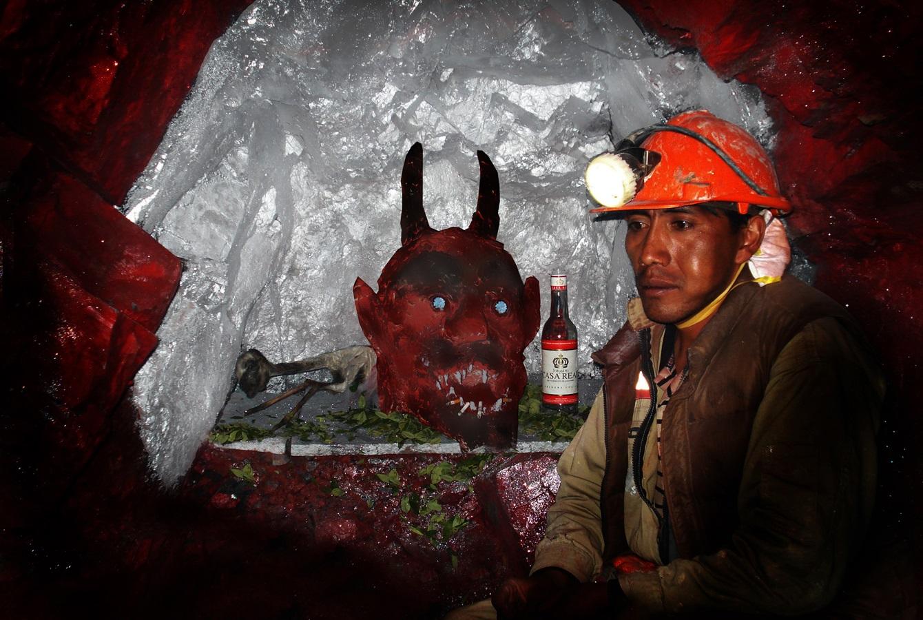 эль тио дьявол шахтеры серро-рико дух шахты отвратительные мужики