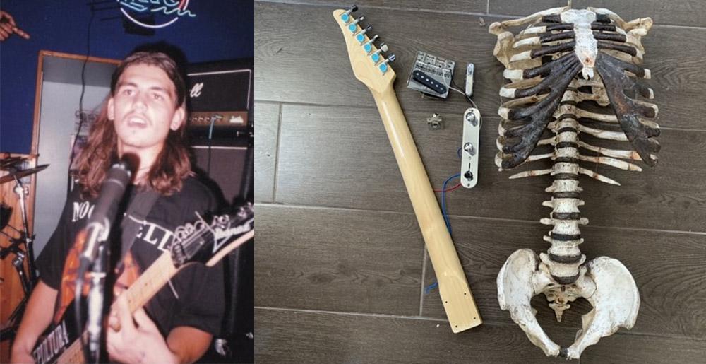 гитара из скелета отвратительные мужики