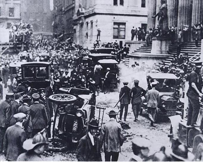 взрыв на уолл-стрит анархисты и уолл-стрит терракт сша отвратительные мужики