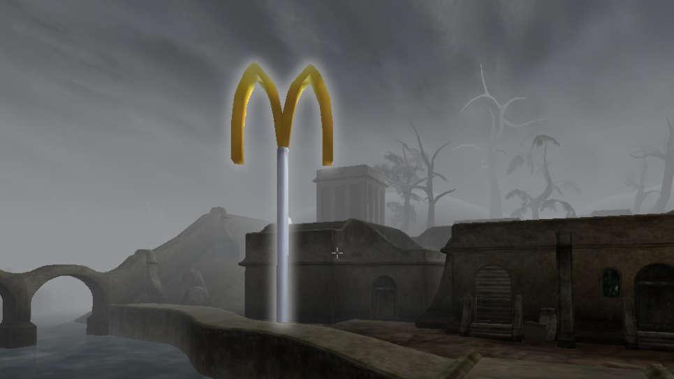 Morrowind McDonalds понедельник начинается с дичи