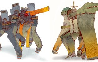 Боевые мехи будущего (и немного роботов-мусорщиков): арт Шена Лэма