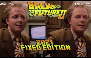 Видео дня: нейросеть исправила внешность постаревшего Марти Макфлая из «Назад в будущее 2»