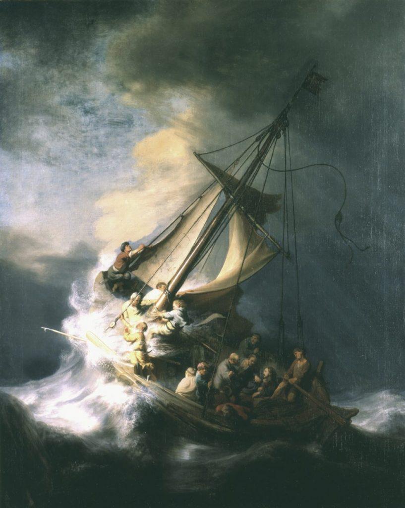 1. Rembrandt The Storm on the Sea of Galilee 1000x1254 817x1024 - Загадка пропавших шедевров: как фальшивые копы ограбили музей в Бостоне на 500 миллионов и оставили в дураках ФБР