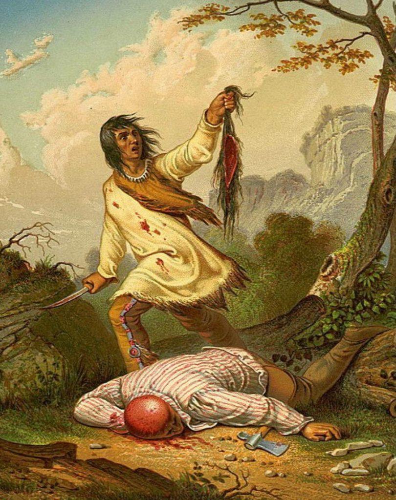 индейцы сняли скальп заживо  скальпирование