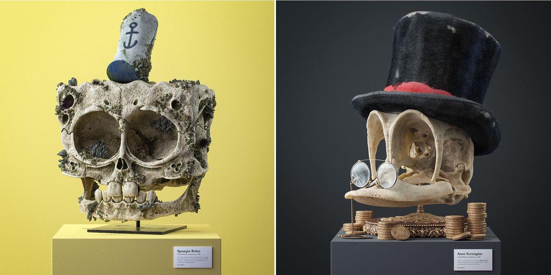 мультяшные черепа