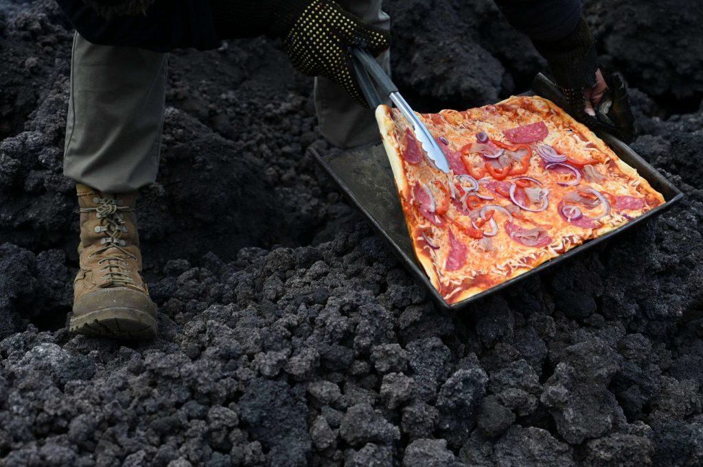пицца на лаве пицца на вулкане пакая гватемала
