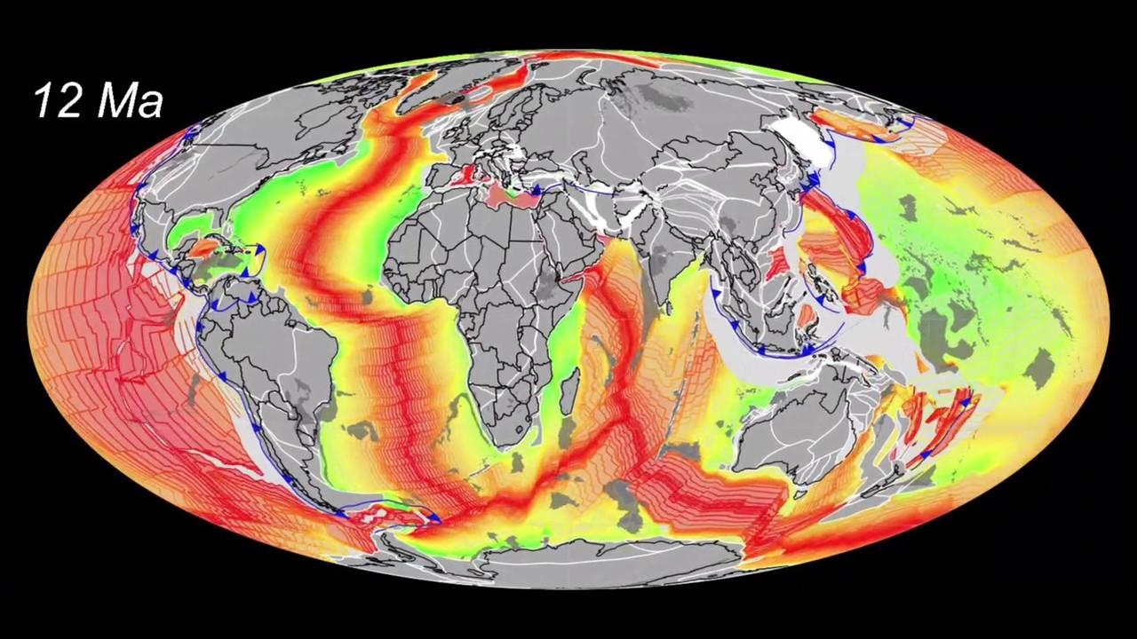 тектонические плиты движение литосферных плит