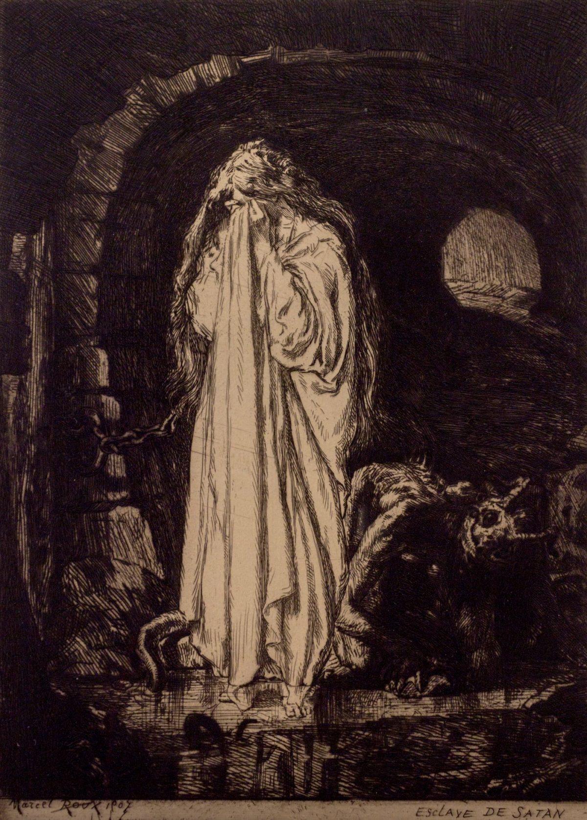 010 MARCEL ROUX 1200x1677 - Дьявольщина, достойная современных хорроров: картины Марселя Ру (1878-1922)