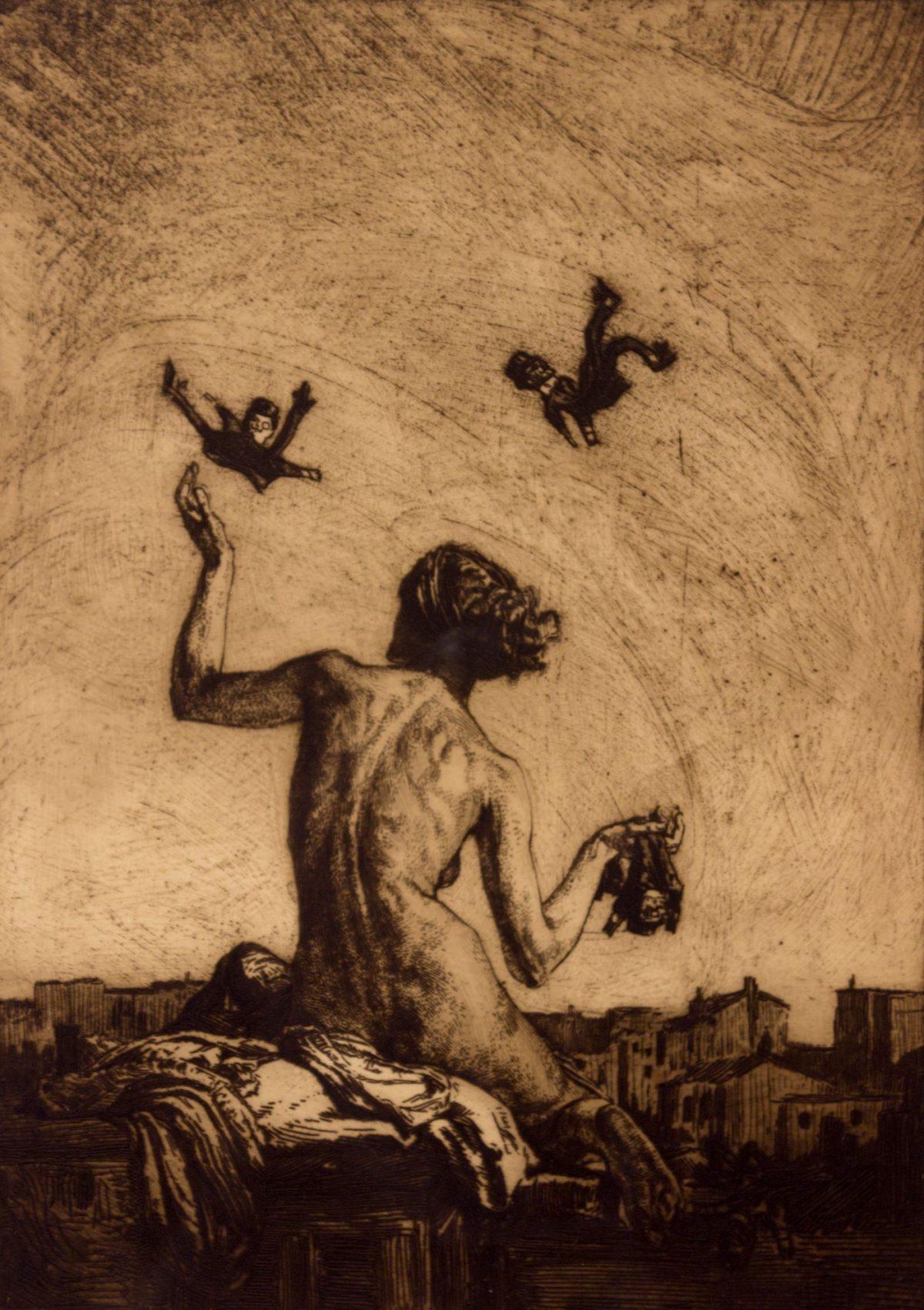 012 MARCEL ROUX 1200x1701 - Дьявольщина, достойная современных хорроров: картины Марселя Ру (1878-1922)