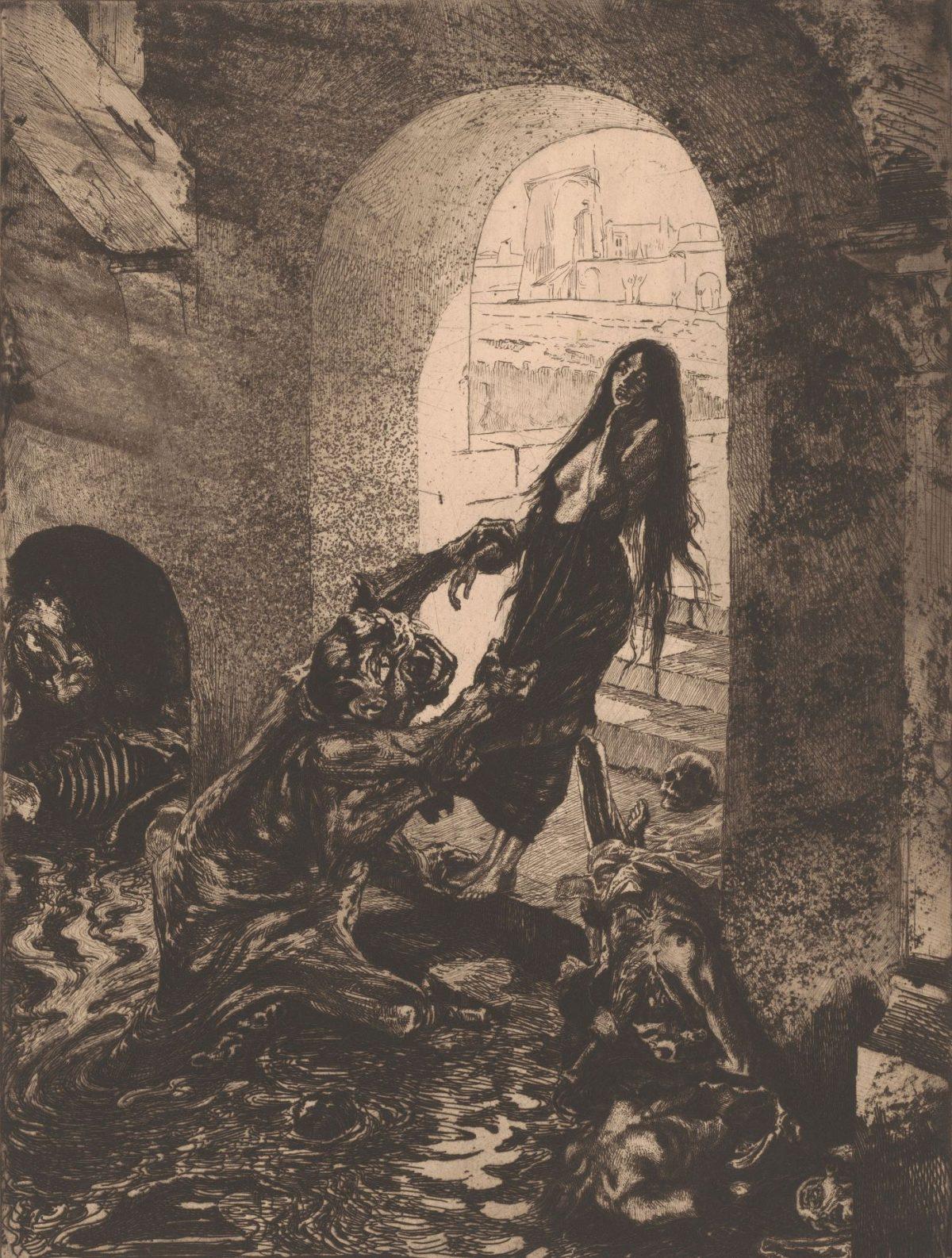 013 MARCEL ROUX 1200x1586 - Дьявольщина, достойная современных хорроров: картины Марселя Ру (1878-1922)