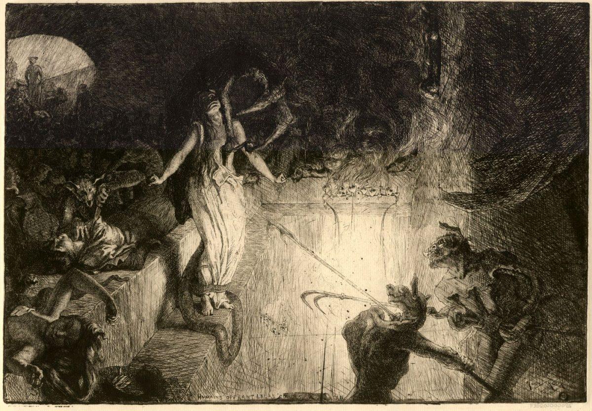 014 MARCEL ROUX 1200x832 - Дьявольщина, достойная современных хорроров: картины Марселя Ру (1878-1922)