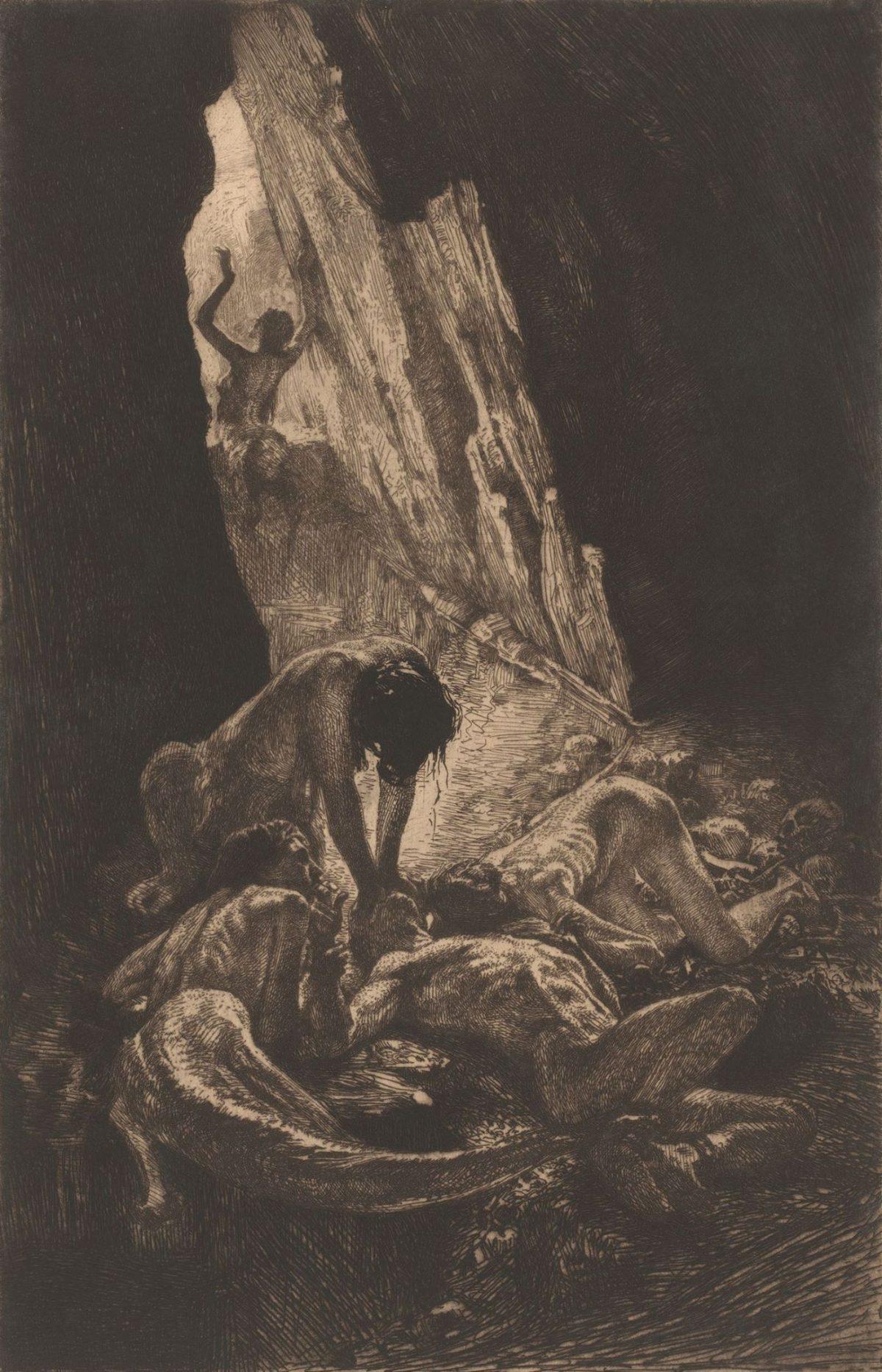 01 MARCEL ROUX 1200x1866 - Дьявольщина, достойная современных хорроров: картины Марселя Ру (1878-1922)