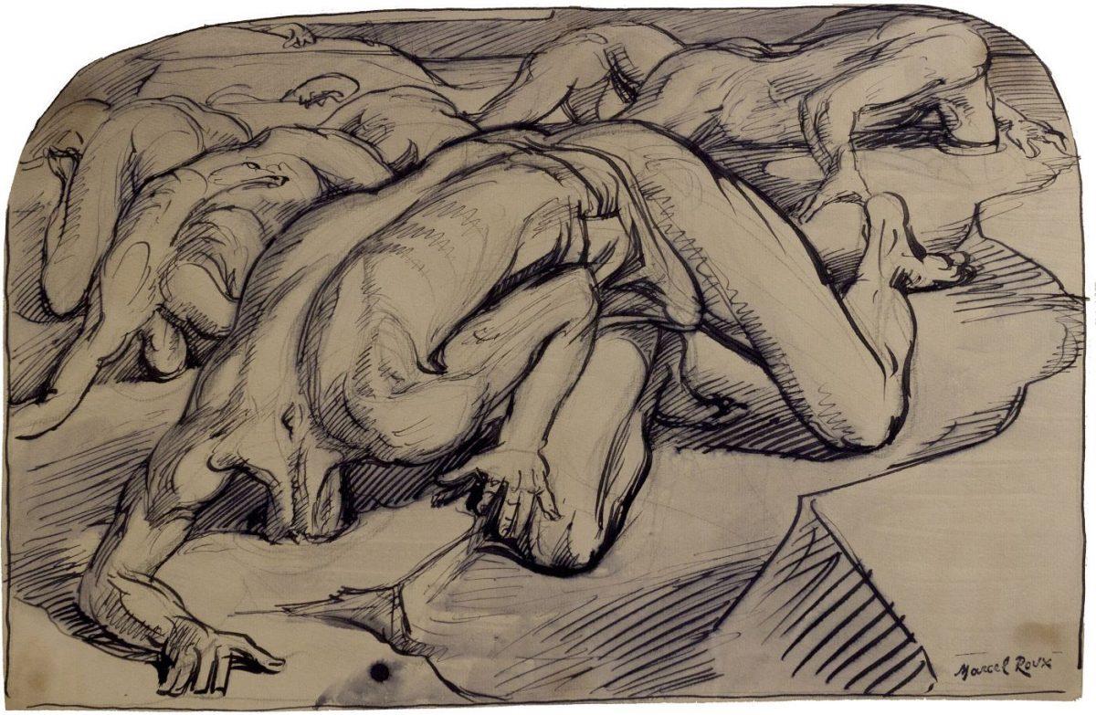 05 MARCEL ROUX 1200x783 - Дьявольщина, достойная современных хорроров: картины Марселя Ру (1878-1922)