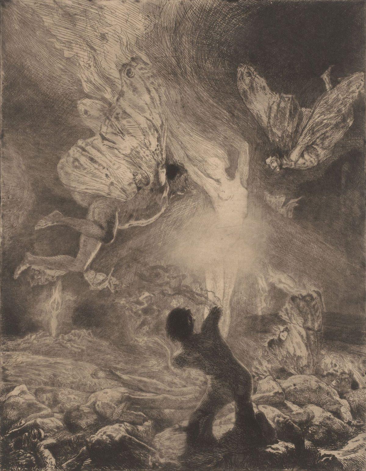 07 MARCEL ROUX 1200x1546 - Дьявольщина, достойная современных хорроров: картины Марселя Ру (1878-1922)
