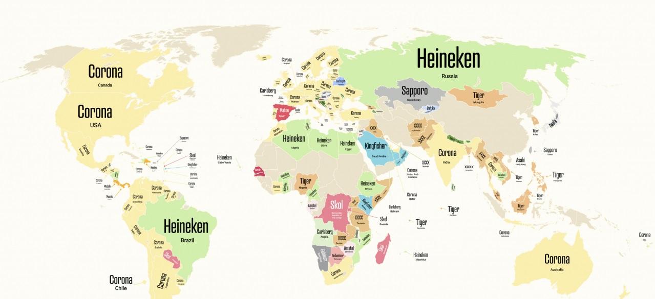 пиво карта самое популярное пиво в странах
